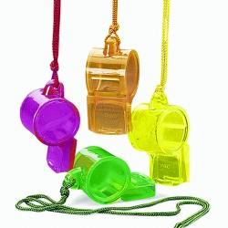 Plastic Translucent Whistle