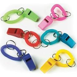Plastic Whistle on Bracelet
