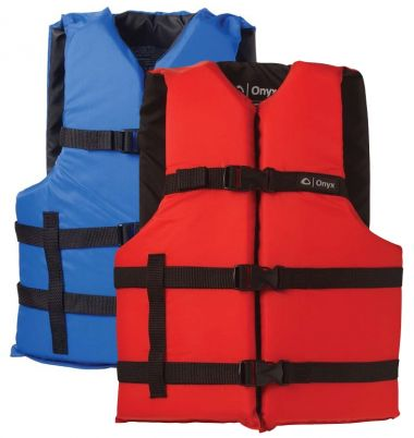 Onyx Life Vests Type II and Type III