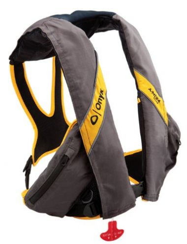 Onyx A/M-24 Deluxe Automatic/Manual PFD - Carbon/Yellow