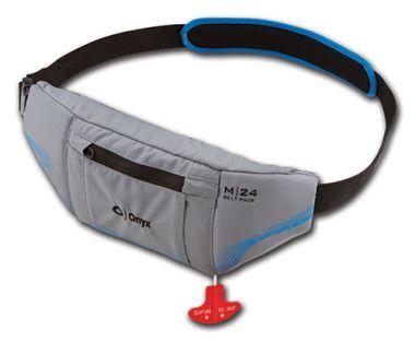 Onyx M-24 Manual Inflatable PFD Universal Belt Pack - Grey