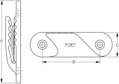 ClamCleat Fine Line Port Diagram