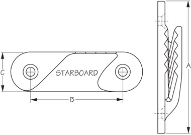 ClamCleat Fine Line Starboard Diagram
