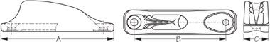 ClamCleat JR Diagram